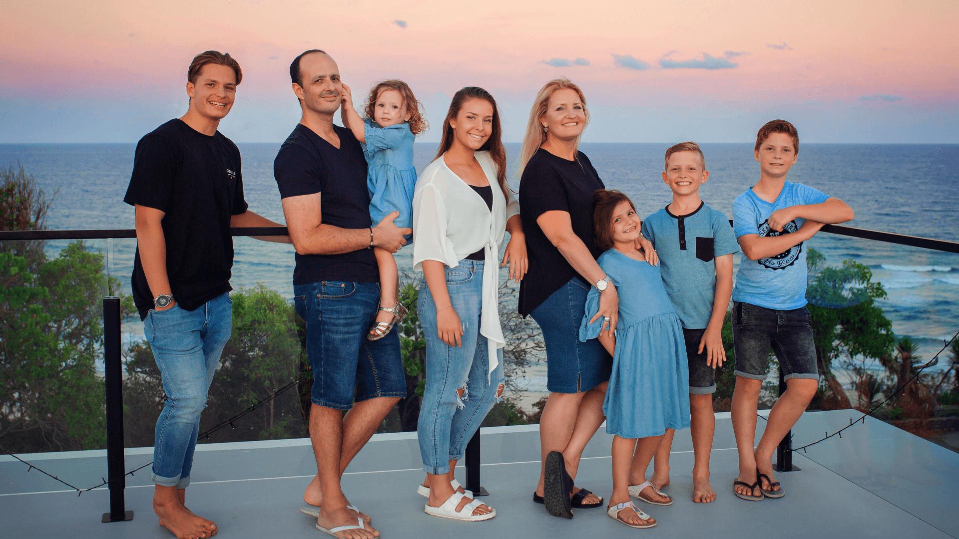 Dr Semaan's family